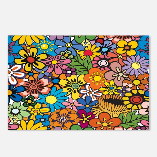 Flower Pattern Postcards (Package of 8)