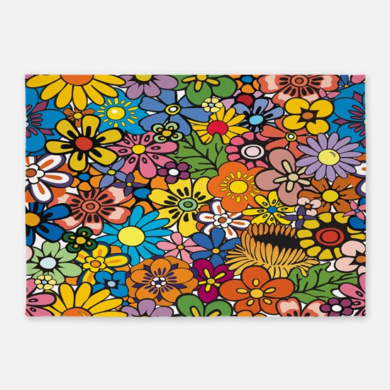 Flower Pattern 5'x7'Area Rug