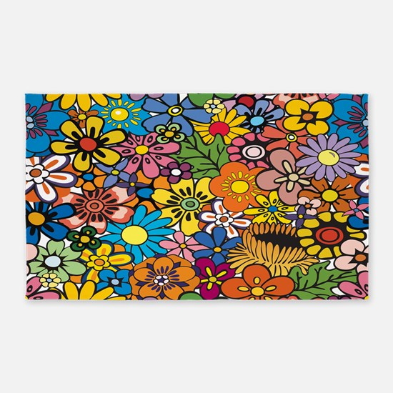 Flower Pattern 3'x5' Area Rug