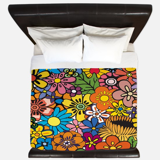 Flower Pattern King Duvet