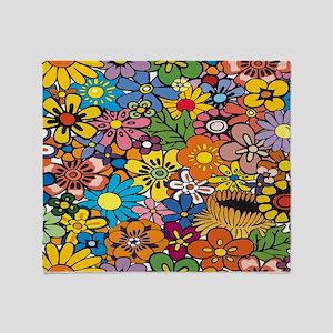 Flower Pattern Throw Blanket
