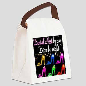 FOXY DENTAL ASST Canvas Lunch Bag