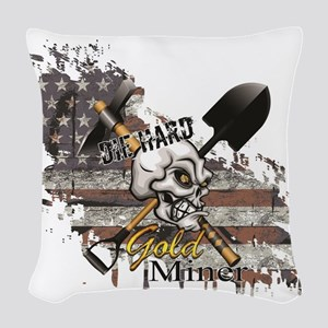 Gold Miner Woven Throw Pillow