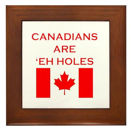 Canadians Are 'Eh Holes Framed Tile