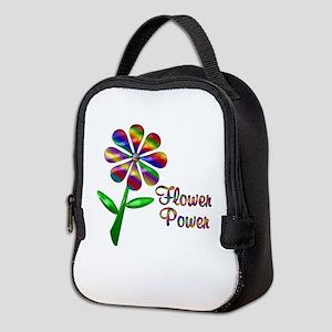 Flower Power Neoprene Lunch Bag