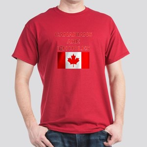 Canadians Are 'Eh Holes Dark T-Shirt