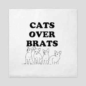 Cats Over Brats Queen Duvet