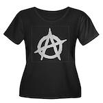 Anarchist Women's Plus Size Scoop Neck Dark T-Shir