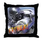 RoboFather Throw Pillow