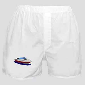 Red Cuddy Cabin Power Boat Boxer Shorts