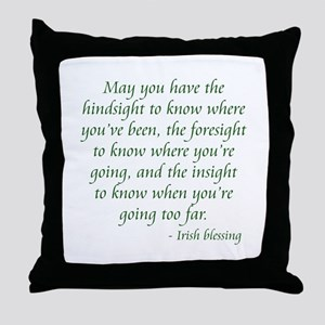Irish Blessing 2 Throw Pillow