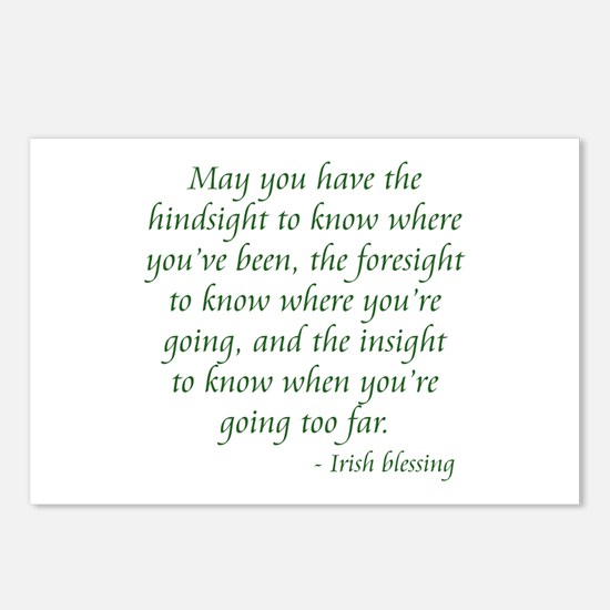 Irish Blessing 2 Postcards (Package of 8)