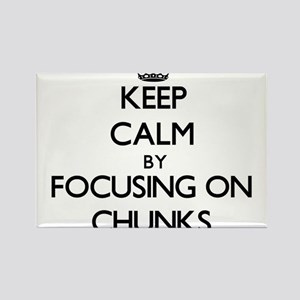 Keep Calm by focusing on Chunks Magnets