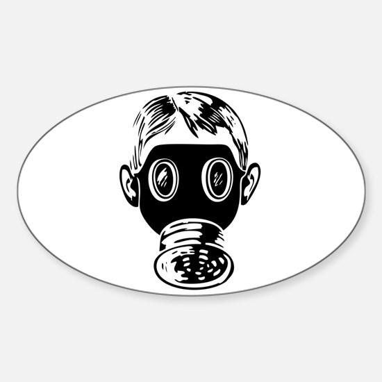 Gas Mask Oval Decal