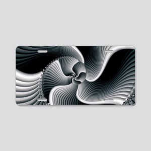 Sinuous Aluminum License Plate