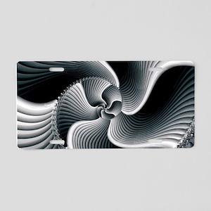 Sinuous Aluminum License Plate