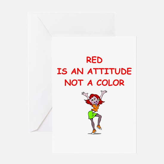 red head Greeting Cards
