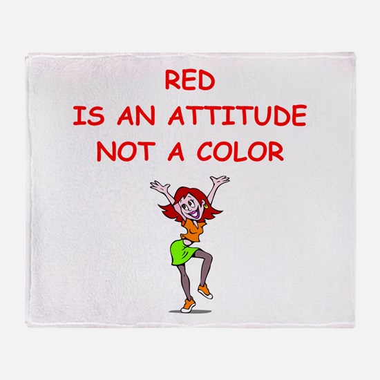 red head Throw Blanket