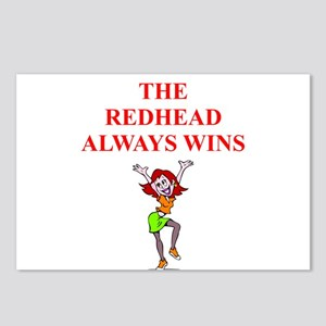 red head Postcards (Package of 8)