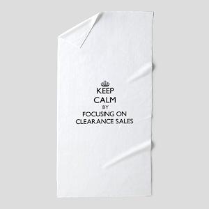 Keep Calm by focusing on Clearance Sal Beach Towel