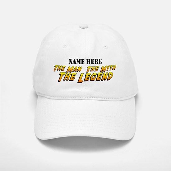 Man Myth Legend Custom Baseball Baseball Cap