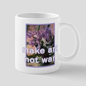 Anti-War Make Art Not War Mug