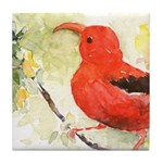 Red Honeycreeper Tile Coaster