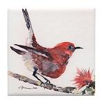 Apapane Bird Tile Coaster