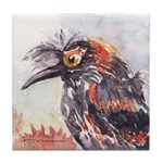 Crested Honeycreeper Tile Coaster