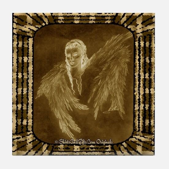 Glowing Angel Tile Coaster