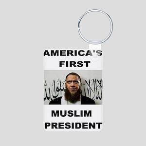 MUSLIM PRESIDENT Keychains