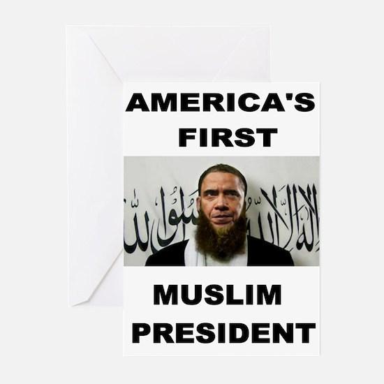 MUSLIM PRESIDENT Greeting Cards