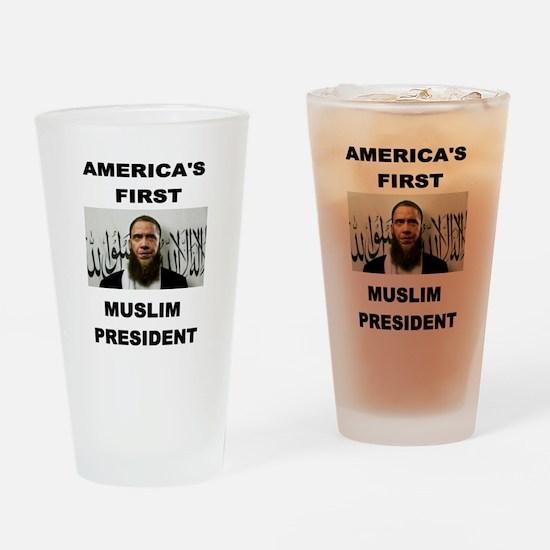 MUSLIM PRESIDENT Drinking Glass