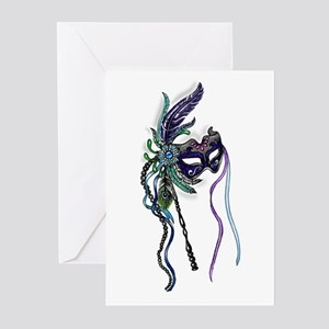 Decorative Mardi Gras Mask Greeting Cards