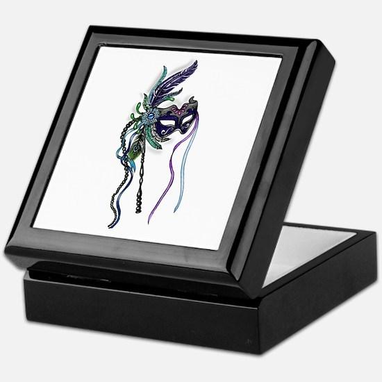 Decorative Mardi Gras Mask Keepsake Box