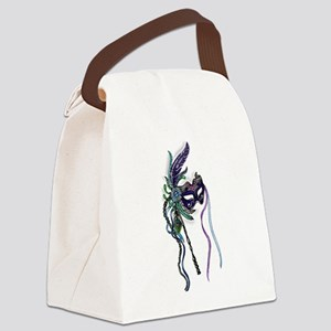 Decorative Mardi Gras Mask Canvas Lunch Bag