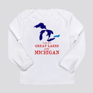 4 out of 5 Great Lakes Long Sleeve T-Shirt