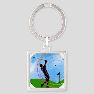 Golf Swing on the Fairway Keychains