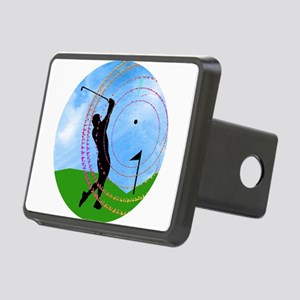 Golf Swing on the Fairway Rectangular Hitch Cover