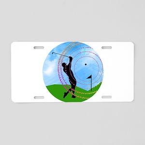 Golf Swing on the Fairway Aluminum License Plate