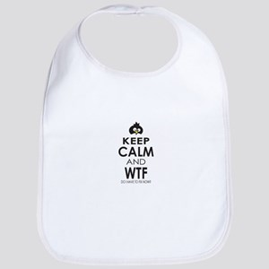 Penguin Keep Calm and WTF do I have to fix now Bib