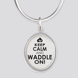 Penguin Keep Calm and Waddle On Necklaces