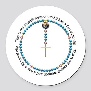 Rosary Round Car Magnet