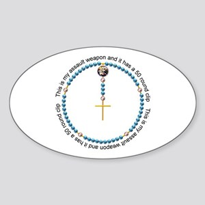 Rosary Sticker (Oval)