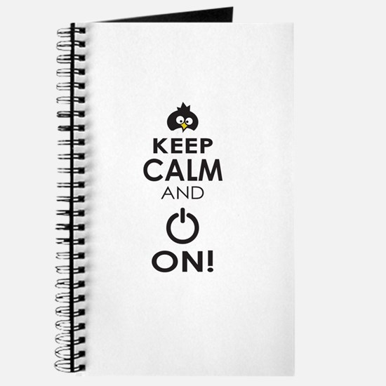 Keep Calm and Power On Journal