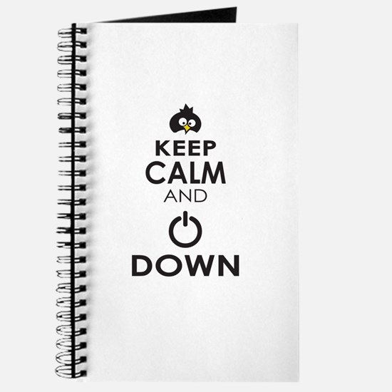 Penguin Keep Calm and Power Down Journal