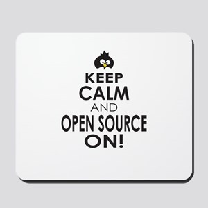 Penguin Keep Calm and Open Source On Mousepad
