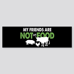 Not Food Vegan Sticker (Bumper)