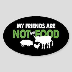 Not Food Vegan Sticker (Oval)