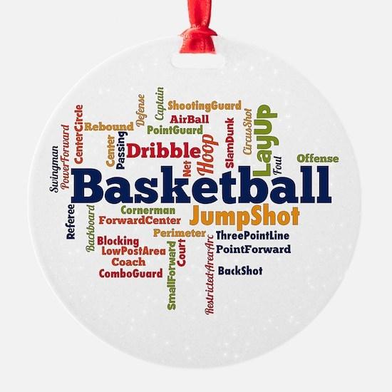 Basketball Word Cloud Ornament